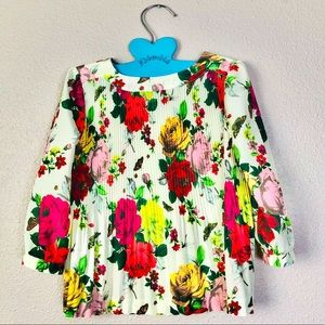 Baker Ted Baker Pleated Floral Swing Top